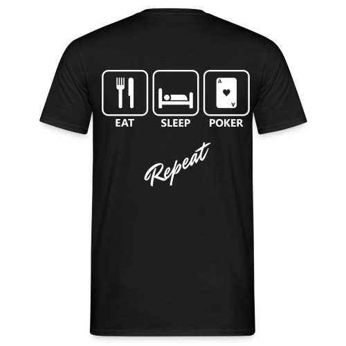 Eat, Sleep, Poker - Herre-T-shirt