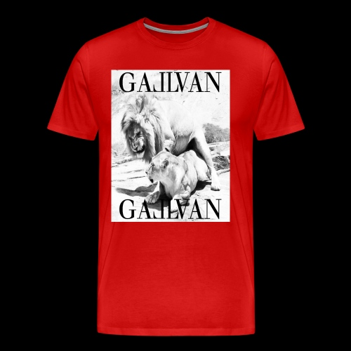 Gallvan King Come T-Shirt Rosso - Männer Premium T-Shirt