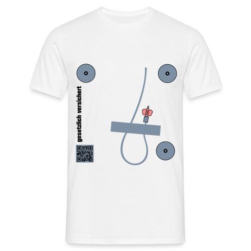 gesetzlich versichert Infusion Kanüle EKG Elektroden - Männer T-Shirt