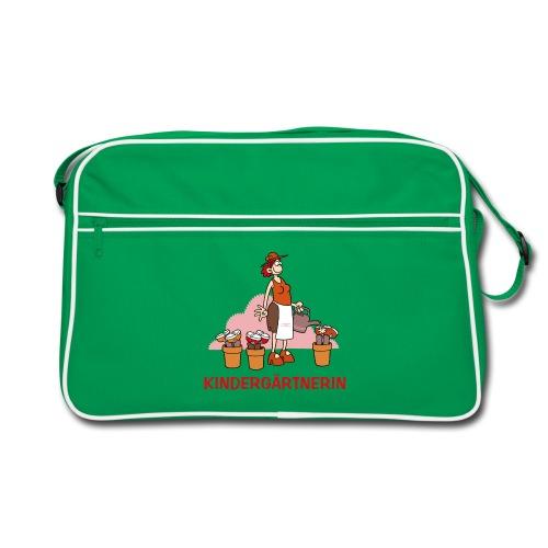 Kindergärtnerin - Retro Tasche - BagBase - Retro Tasche