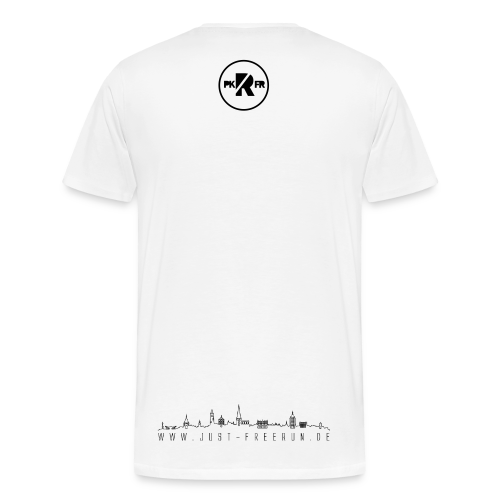 Just Freerun & PKFR Rostock T-Shirt weiß - Männer Premium T-Shirt