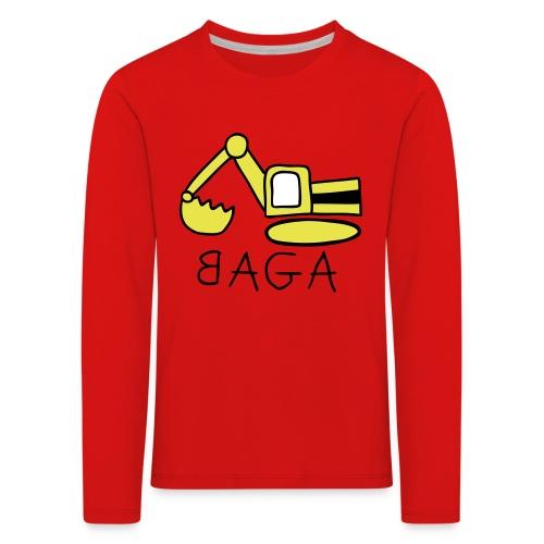 Bagger Langarmshirt für Kinder - Kinder Premium Langarmshirt