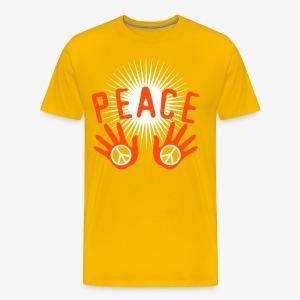 Peace Make Love not War Mach Liebe, nicht Krieg Hände Hands 1c Männer T-Shirt - Männer Premium T-Shirt