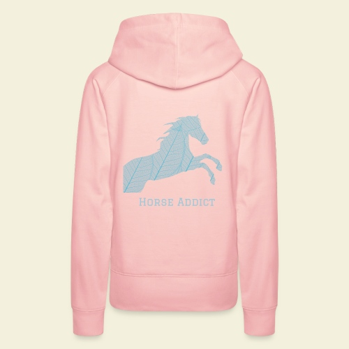 Sweat Horse Addict rose - Sweat-shirt à capuche Premium pour femmes