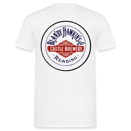 Blandy & Hawkins' Castle Brewery, Reading (Back) - Men's T-Shirt