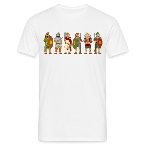 Late Saxon Warriors (Front) - Men's T-Shirt