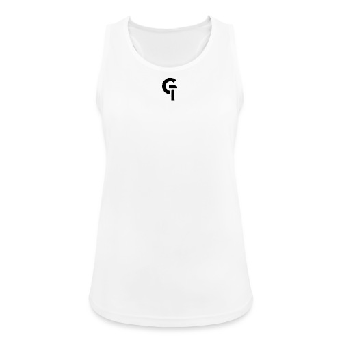 G.TEC Sporttank Women White - Frauen Tank Top atmungsaktiv