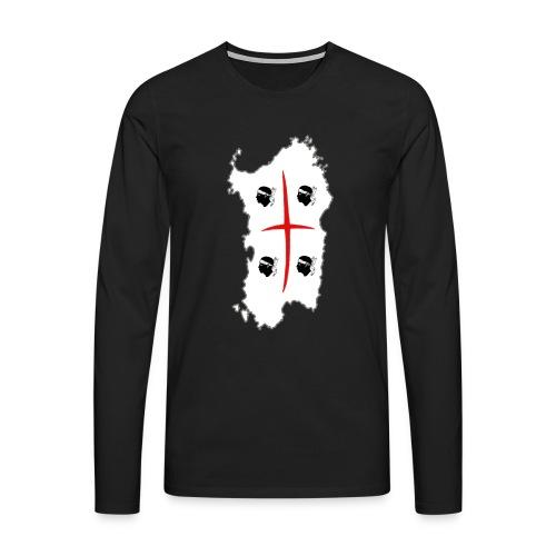 Maglietta SARDEGNA 4MORI a manica lunga da uomo - Maglietta Premium a manica lunga da uomo