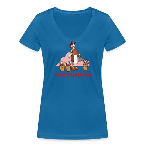 Kindergärtnerin - T-Shirt - Frauen Bio-T-Shirt mit V-Ausschnitt von Stanley & Stella
