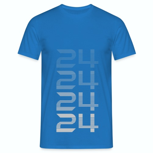 T shirt département 24 Dordogne bleu r homme - T-shirt Homme