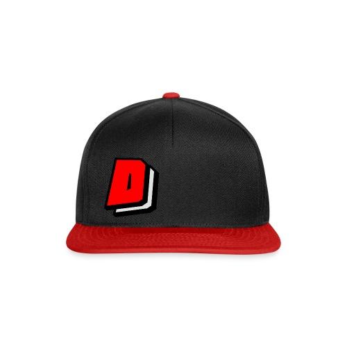 Dahl Dantill Logo Baseball Cap - Black/Red - Snapback Cap