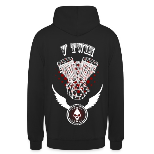V twin Alien Motard Custom Text - Sudadera con capucha unisex