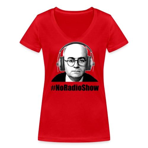 NoRadioShow Fan-Shirt Frauen (rot) - Frauen Bio-T-Shirt mit V-Ausschnitt von Stanley & Stella