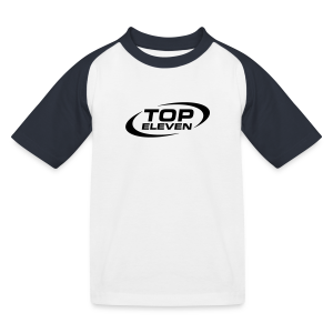 Kids Logo Baseball T-Shirt - White/Navy - Kids' Baseball T-Shirt