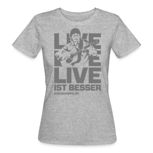 Mike Janipka - Grau *ökologische Herstellung* - Frauen Bio-T-Shirt