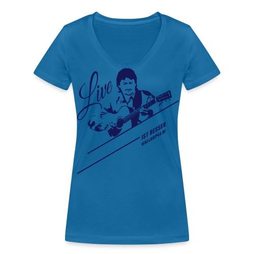 Mike Janipka - Blau V-Neck - Frauen Bio-T-Shirt mit V-Ausschnitt von Stanley & Stella