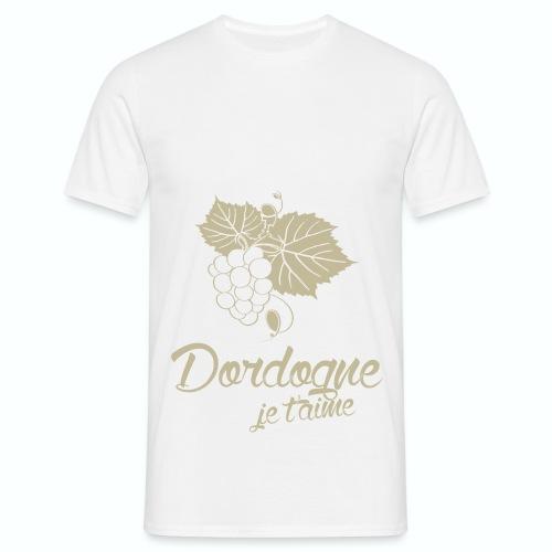 T Shirt Dordogne Je t'aime 24 blanc homme  - T-shirt Homme
