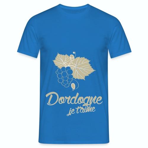 T Shirt Dordogne Je t'aime 24 bleu r homme  - T-shirt Homme