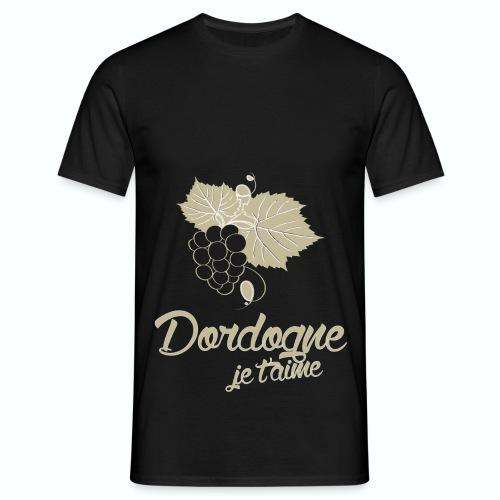 T Shirt Dordogne Je t'aime 24 noir homme  - T-shirt Homme