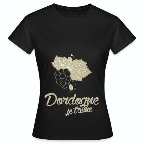 T Shirt Dordogne Je t'aime 24 noir femme  - T-shirt Femme