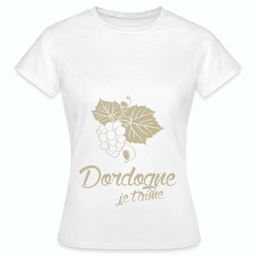 T Shirt Dordogne Je t'aime 24 blanc femme  - T-shirt Femme