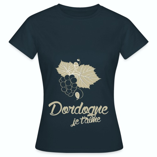 T Shirt Dordogne Je t'aime 24 bleu m femme  - T-shirt Femme