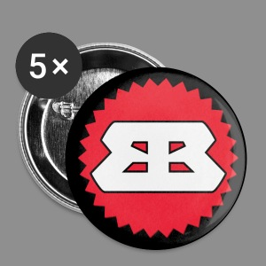 Bassbottle Logo | 5 Badges 56 mm - Buttons groß 56 mm