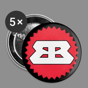 Bassbottle Logo | 5 Badges 32 mm - Buttons mittel 32 mm