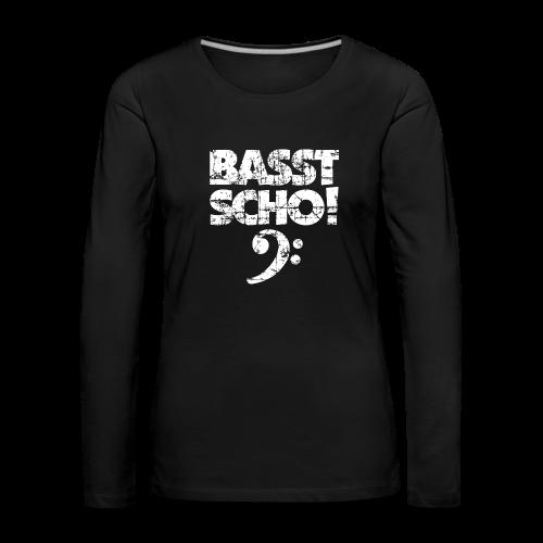 BASST SCHO! Bass Spruch für Bassisten