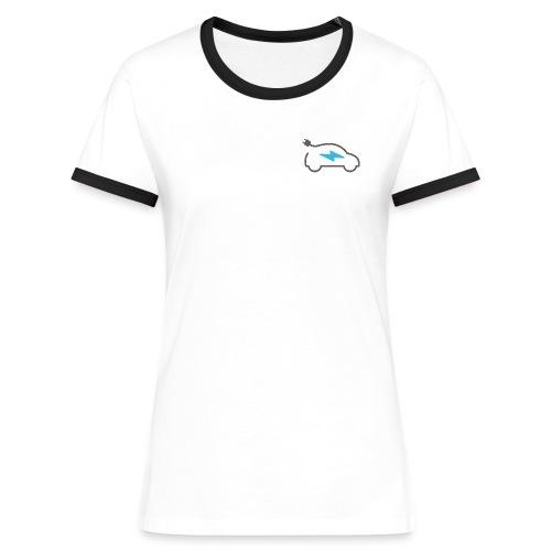 Retro-Style T-Shirt Damen  - Frauen Kontrast-T-Shirt