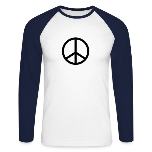 anti nukes long sleeved shirt - Men's Long Sleeve Baseball T-Shirt