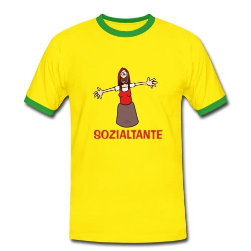 Sozialtante - T-Shirt - Männer Kontrast-T-Shirt