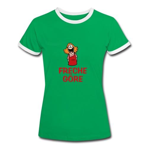 Freche Göre - T-Shirt - Frauen Kontrast-T-Shirt