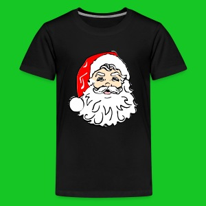 Kerstman hoofd teenager t-shirt - Teenager Premium T-shirt