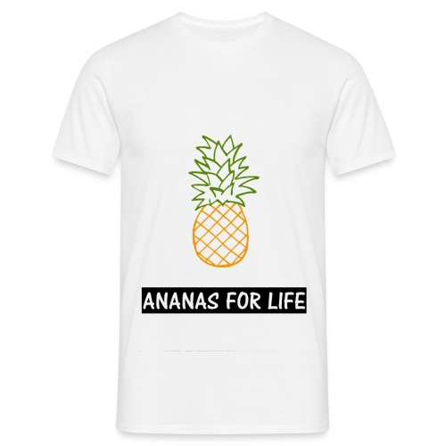 T-shirt Ananas for life homme - T-shirt Homme