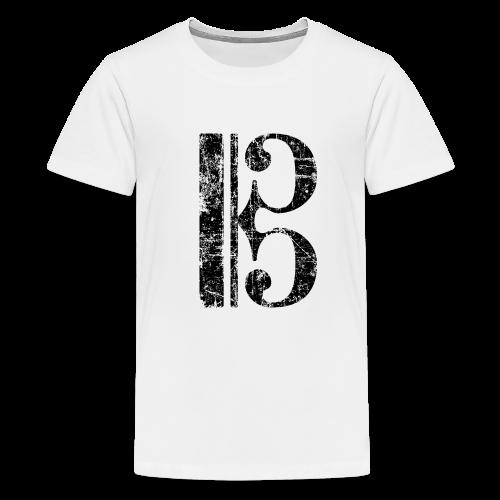 Altschlüssel, Tenorschlüssel (Vintage/Schwarz) Teenager T-Shirt - Teenager Premium T-Shirt
