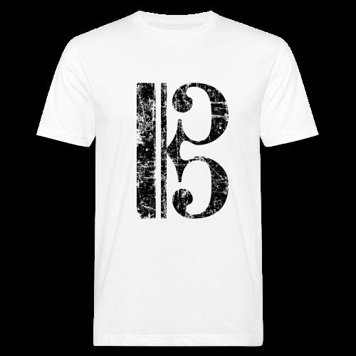 Altschlüssel, Tenorschlüssel (Vintage/Schwarz) Bio T-Shirt - Männer Bio-T-Shirt