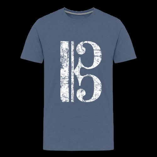 Altschlüssel, Tenorschlüssel (Vintage/Weiß) Teenager T-Shirt - Teenager Premium T-Shirt