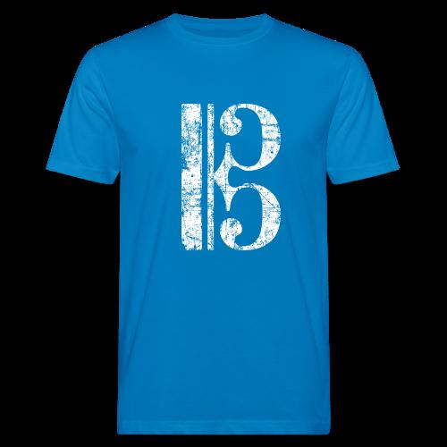 Altschlüssel, Tenorschlüssel (Vintage/Weiß) Bio T-Shirt - Männer Bio-T-Shirt