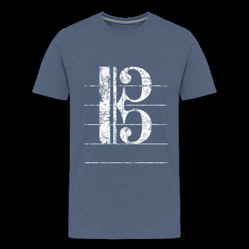 Tenorschlüssel (Vintage/Weiß) Teenager T-Shirt - Teenager Premium T-Shirt