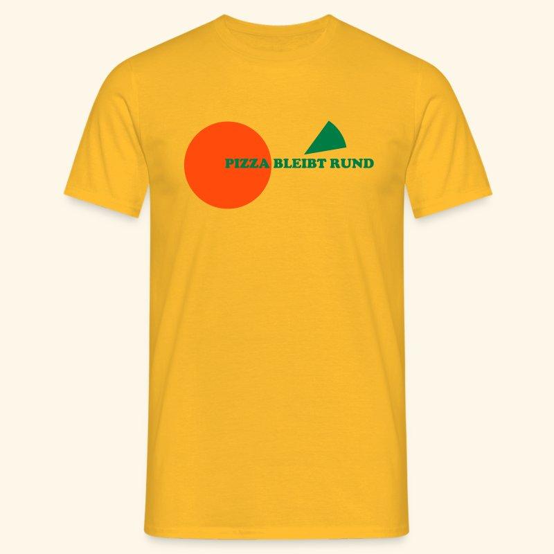Pizza bleibt rund gelb - Männer T-Shirt