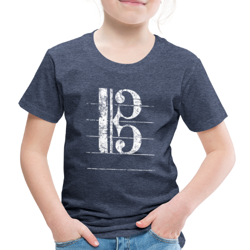 Tenorschlüssel (Vintage/Weiß) Kinder T-Shirt - Kinder Premium T-Shirt