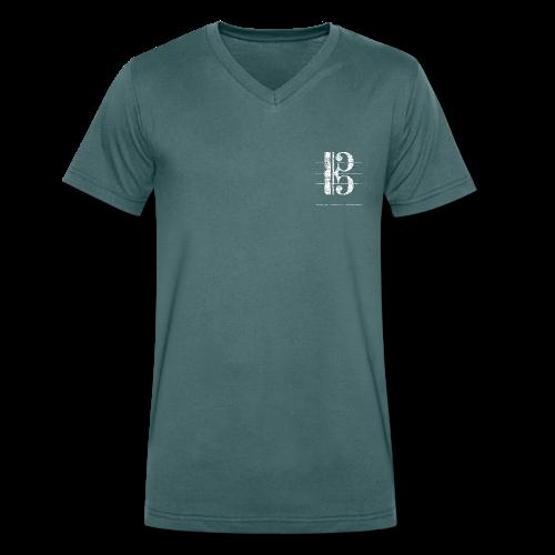 Tenorschlüssel (Vintage/Weiß) V-Neck T-Shirt - Männer Bio-T-Shirt mit V-Ausschnitt von Stanley & Stella
