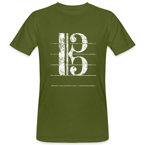Tenorschlüssel (Vintage/Weiß) Bio T-Shirt - Männer Bio-T-Shirt