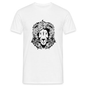 lion black on white - Men's T-Shirt