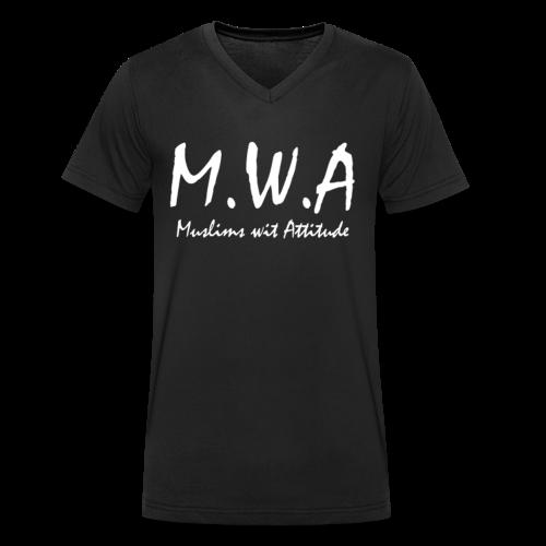 M.W.A T-Shirt V-Ausschnitt - Männer Bio-T-Shirt mit V-Ausschnitt von Stanley & Stella