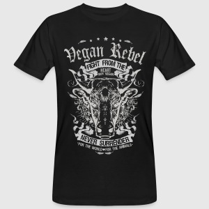 Vegan Rebel Black Edition - Männer Bio T-Shirt - Männer Bio-T-Shirt