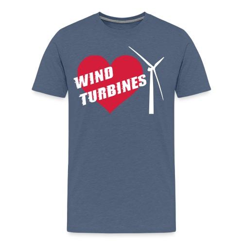 I love wind turbines! T-Shirts - Men's Premium T-Shirt
