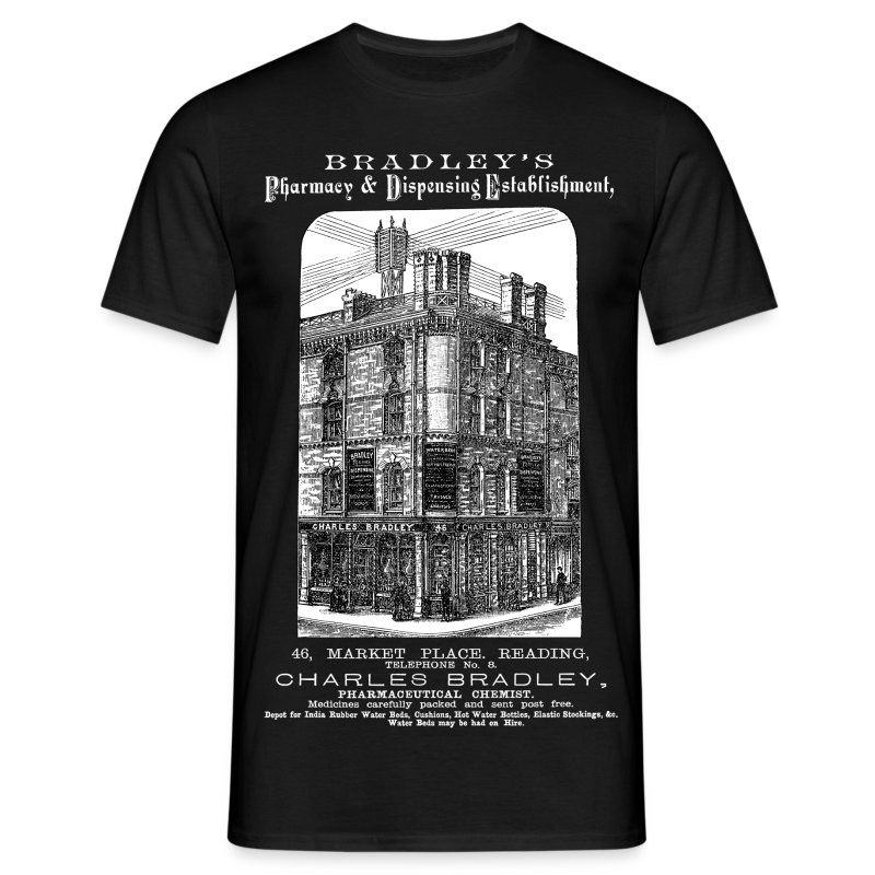 Bradley's Pharmacy, Reading (Front) - Men's T-Shirt