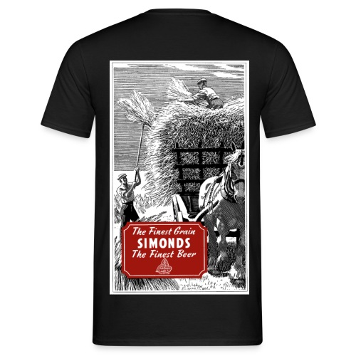Simonds' Finest Beer, Reading (Back) - Men's T-Shirt